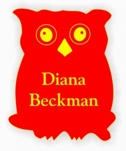 Chi Omega Owl Shaped Name Tag
