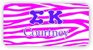 Sigma Kappa Color Name Tag