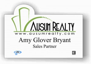 Custom Shaped Real Estate Name Tag