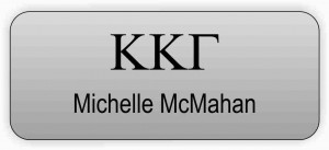 Kappa Kappa Gamma Name Tag Greek Letters